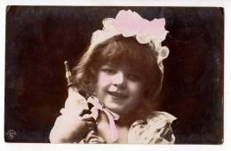 PHOTOGRAPHS CHILDREN GIRL WITH A HAT KI.V.BP. Nr. 1905 OLD POSTCARD 1906. - Photographs