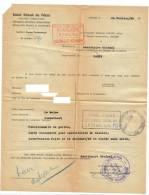 Cachet Police Amicale Anciens Combattants Déportés Resistants - Vieux Papiers