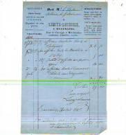 Beauraing - 1869 - Lemye-Lesuisse - Imprimerie Et Librairie Classique - Printing & Stationeries