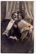 PHOTOGRAPHS COUPLE  A COUPLE R Nr. 3844/4 OLD POSTCARD 1913. - Photographs