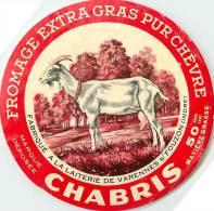 Etiquette. Ref. 185. CHABRIS - Fabriqué à La Laiterie De Varennes Sur Fouzon (Indre) - Fromage