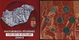 Hongrie Hungary Coffret Officiel BU 1 à 100 Forint 2001 KM MS32 - Hongrie