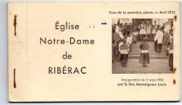 RIBERAC -  NOTRE DAME DE RIBERAC - CARNET COMPLET 10 PAGES - Riberac