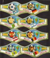 8 BIG Cigar Bands  -  Alvaro  -  Espana 1982  -  Mondial De Foot  -  Nos 1 - 8 - Sigarenbandjes