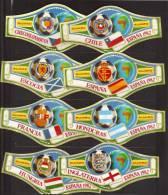 8 BIG Cigar Bands  -  Alvaro  -  Espana 1982  -  Mondial De Foot  -  Nos 9 - 16 - Sigarenbandjes
