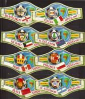8 BIG Cigar Bands  -  Alvaro  -  Espana 1982  -  Mondial De Foot  -  Nos 17 - 24 - Sigarenbandjes