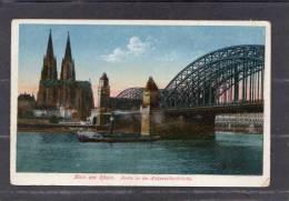 34606   Germania,  Koln  Am  Rhein  -  Partie  An Der  Hohenzollernbrucke,  NV - Koeln