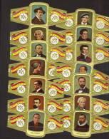 14  Cigar Bands -  Baque De Cigare - Sigarenband  -  Alvaro  -  Series Sculpters  - All Different - Bauchbinden (Zigarrenringe)