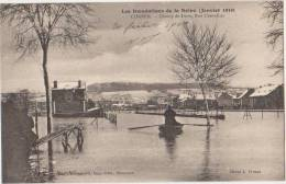 CPA 91 CORBEIL Champ De Foire Rue Chevallier Inondations De La Seine Crue 1910 - Corbeil Essonnes