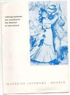 """Exposition En 1968  """"Lithographies En Couleurs De RENOIR à Nos Jours """"Musée De L´Athénée GENEVE-Invitation Au Vernissage - Vieux Papiers"""