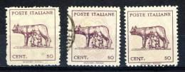 Luogotenenza 1945. Sassone, 515. Lupa Capitolina, Emissione Di Napoli, Nuovo, Usato E Nuovo Senza Filigrana - 5. 1944-46 Lieutenance & Umberto II