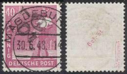 """SBZ - MAGDEBURG - Aufdr. Abarten  """" 1 """" - Ohne Ortsnamen - Mi. 177 IV - 1948 - Zone Soviétique"""