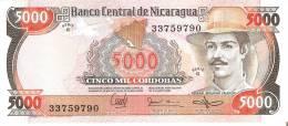 BILLETE DE NICARAGUA DE 5000 CORDOBAS DEL AÑO 1985 SIN CIRCULAR-UNCIRCULATED  (BANK NOTE) - Nicaragua