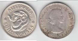 QUALITY **** AUSTRALIE - AUSTRALIA - 1 SHILLING - ONE SHILLING 1955 - ARGENT - SILVER **** EN ACHAT IMMEDIAT !!! - Monnaie Pré-décimale (1910-1965)