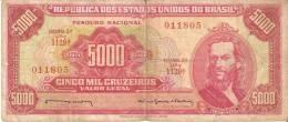 BILLETE DE BRASIL DE 5000 CRUZEIROS DEL AÑO 1964 (BANKNOTE) TIRADENTES - Brasil