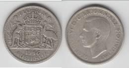 **** AUSTRALIE - AUSTRALIA - 1 FLORIN - ONE FLORIN 1946 - ARGENT - SILVER **** EN ACHAT IMMEDIAT !!! - Monnaie Pré-décimale (1910-1965)