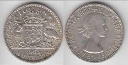 **** AUSTRALIE - AUSTRALIA - 1 FLORIN - ONE FLORIN 1963 - ARGENT - SILVER **** EN ACHAT IMMEDIAT !!! - Monnaie Pré-décimale (1910-1965)