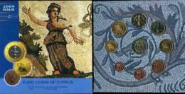 Chypre Cyprus Coffret Officiel BU 1 Cent à 2 Euro 2009 Dont 2 Euro 2009 EMU - Chypre