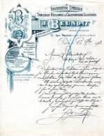 FABRIQUE SPECIALE DE TABLEAUX RECLAMES & CALENDRIERS ILLUSTRES.J.BEUNOIT EDITEUR LITHOGRAPHE 67 RUE PASCAL. - Imprimerie & Papeterie