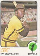 CARDS BASEBALL -LERON LEE (SAN DIEGO PADRES) -1972 - Honkbal