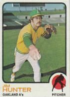 CARDS BASEBALL -JIM HUNTER (OAKLAND A´s) -1972 - Baseball