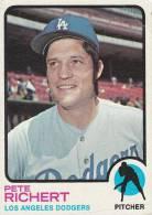 CARDS BASEBALL -PETE RICHERT (LOS ANGELES DODGERS) -1972 - Baseball - Minors (Lega Minore)