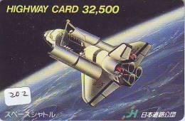 Télécarte Japon ESPACE * Phonecard JAPAN * SPACE SHUTTLE (202) * Rocket * LAUNCHING * SPACE WORLD * Rakete - Espace