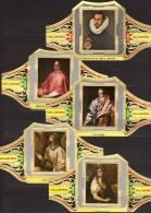 5 Large Cigar Bands -  Baque De Cigare   -  Alvaro  -  Series Painters -  El Greco - Bauchbinden (Zigarrenringe)