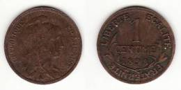 1 CENTIME DANIEL DUPUIS 1898 En Bronze - TTB - A. 1 Centesimo