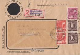 Gemeina. R-Brief Mif Minr.2x 918,2x 945,954 Magdeburg-Sudenburg 24.1.48 Schwärzung - Gemeinschaftsausgaben