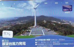 Télécarte Japon * MOULIN (526) WINDMILL * Phonecard * Mühle * TELEFOONKAART JAPAN * MOLEN * - Landschappen