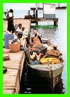 PORT GENTIL, GABON - SCÈNE DE DÉPART EN BATEAU POUR LES LACS - REFLETS DU GABON - J. TROLEZ - - Gabon