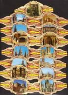 15 Large Cigar Bands -  Baque De Cigare   -  Capote  -  Series Arquitectura Monumental - Bauchbinden (Zigarrenringe)