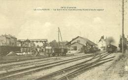 16  LA COURONNE - LA GARE ET LE SUD-EXPRESS FILANT A TOUTE VAPEUR (ref 2868) - France