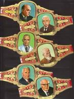 6 Large Cigar Bands -  Baque De Cigare   -  Alvaro  -  Series  Premios Nobel - Bauchbinden (Zigarrenringe)