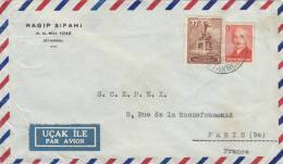 LETTRE  COVER, TURQUIE 1949 , GALATA Pour FRANCE /2933 - Lettres & Documents