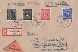 Gemeina. R-NN-Brief Mif Minr.912,931,934,943 Duisburg 2.7.47 - Gemeinschaftsausgaben