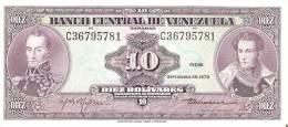 BILLETE DE VENEZUELA DE 10 BOLIVARES DEL AÑO 1979 CALIDAD EBC+  (BANKNOTE) - Venezuela