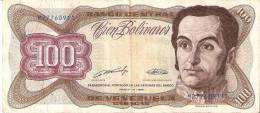 BILLETE DE VENEZUELA DE 100 BOLIVARES DEL AÑO 1989 (BANKNOTE) - Venezuela