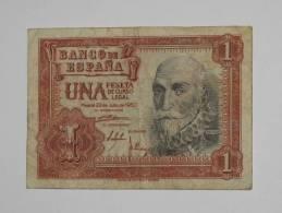 ESPAGNE. 1 Peseta - Una Pesta - 22.07.1953 Banco De Espana. - [ 3] 1936-1975 : Régence De Franco