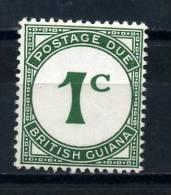 BRITISH  GUIANA      1940     Postage  Due    1c  Green       MH - Guyana Britannica (...-1966)