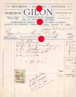 VERVIERS Imprimerie GILON 1933 - Printing & Stationeries