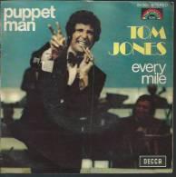 "45 Tours SP -  TOM JONES  - DECCA 84003  "" PUPPET MAN "" + 1 - Vinyl Records"