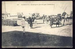 DJIBOUTI    Transport  De Sel Par Chameaux - Djibouti