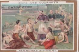 Chromo Dorée - Chocolat Des Gourmets - TREBUCIEN - Café Des Gourmets - Mgr De Belzunce Et Les Pestiférés - Cioccolato