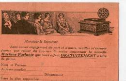 Comptoir Phonographique  Paris 14e - Werbepostkarten