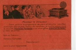 Comptoir Phonographique  Paris - Werbepostkarten