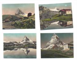 Suisse - Zermatt Lot De 7 Petites Cartes Anciennes - VS Valais