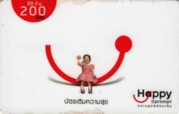 Télécarte D Prompt 200 Baht : 1 Fille Happy - Thailand
