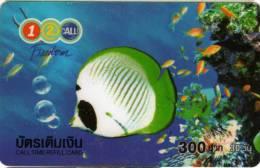Télécarte 1-2-CALL 300 Baht : Poissons Fish - Telefonkarten